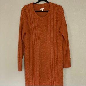 Merona Rusty Orange Knit Dress